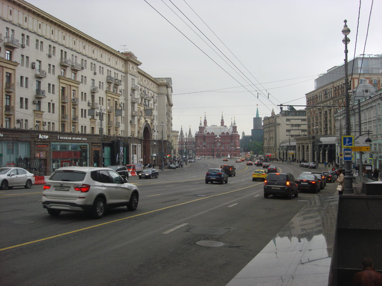 This is the main drag down to Red Square